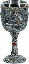 Mittelalter Weinkelch Kämpfender Ritter von