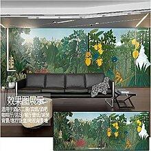 Mittelalterliche handbemalte tropische Regenwald