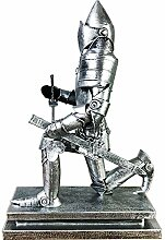 Mittelalterliche Ritter-Statue, Soldat Model Retro