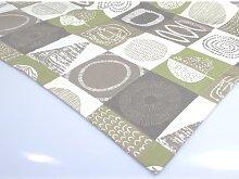 Mitteldecke Tischdecke Elvira mit Muster 85x85cm grau weiß grün Hossner (22,95 EUR / Stück)