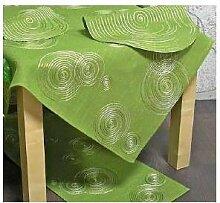 Mitteldecke Tischdecke LUGAU KREISE 85x85cm grün