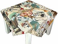 Mitteldecke Tischdecke SHELLFISH Maritim Fotodruck