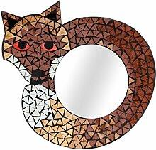 Mittelgroßer Fox Mosaik Spiegel