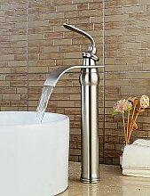 Mittellage Einhand Ein Loch in Geb¡§1rsteter Nickel Waschbecken Wasserhahn