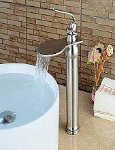 Mittellage Einhand Ein Loch in Geb¨¹rsteter Nickel Waschbecken Wasserhahn
