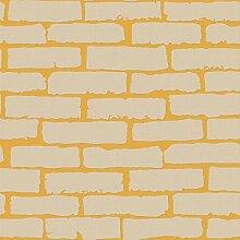 Mittelmeer 3D Dreidimensionale weiße Steine, Tapeten, Vliesstoffe, Wohnzimmer, Schlafzimmer, Bekleidungsgeschäft, Hintergrund Mauer, Ziegel, Wallpaper, Ingwer