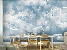 Mittelmeer, blauer Himmel, weiße Wolken
