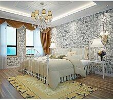 Mittelmeer-Non-Woven-Tapete, Wohnzimmer, Schlafzimmer, Hintergrund, Wand, Tapete, Hellgrau