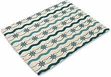 Mittelmeer Platzdeckchen–memorecool Haustierhaus Baumwolle Leinen Repeat Mustern Gute Tisch Matten Sets 443,2x 33cm, baumwolle, pattern8, 17x13inch