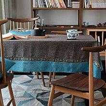 Mittelmeer Tischdecke Polyester Einfarbig