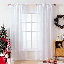 MIULEE 2er Set Sheer Voile Vorhang Weihnachten