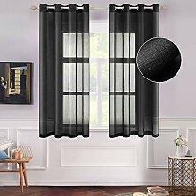 MIULEE Gardinen für Fenster, halbdurchsichtig,