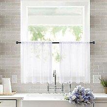 MIULEE Gardinen für Küche, Badezimmer, kleine