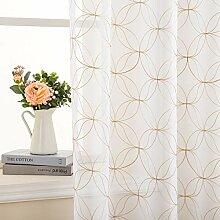 MIULEE Gardinen für Wohnzimmer Weiß Schlafzimmer