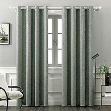 MIULEE Thermo-Leinen-Vorhang für