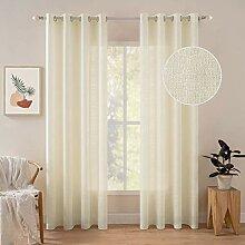 MIULEE Transparente Gardinen für Schlafzimmer