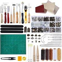Miusie Leder-Handwerkzeug-Sets, 42-teilig,