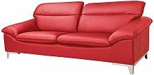 Mivano Ledersofa Teresa / Große Echtleder-Couch
