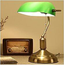 MIVPD Bankerlampe, Schreibtischlampe Grün Klein