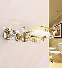 MIWANG Alle Kupfer verdickte Stückseife Rack, Seife, Badezimmer, Badezimmer Seife, Seife Net Regal, Europäischen Crystal Blau und Weiß Porzellan Regal, EIN