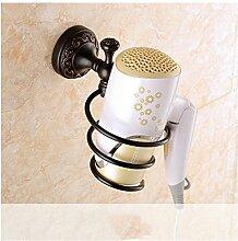 MIWANG Continental amerikanische Schwarz alle Kupfer Handtuchhalter, Handtuchhalter, antik Regal, Badezimmer Anhänger, J-Gebläse Rack