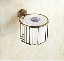 MIWANG Die antike Kupfer Warenkorb Warenkorb, Handtuchhalter, Kosmetik Restroom Regal Toilettenpapierhalter, G