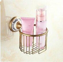 MIWANG Die antike Kupfer Warenkorb Warenkorb, Handtuchhalter, Kosmetik Restroom Regal Toilettenpapierhalter, C