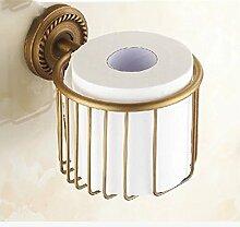 MIWANG Die antike Kupfer Warenkorb Warenkorb, Handtuchhalter, Kosmetik Restroom Regal Toilettenpapierhalter, F