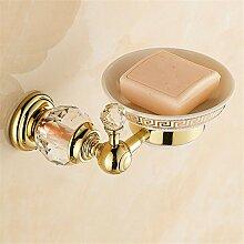 MIWANG Europäische Kristall, alle Kupfer Seifenschale, Seife Net, antike Badezimmer Jade Anhänger, Startseite Seife Rack, Regal, B