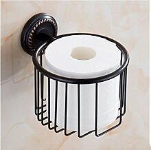MIWANG Im europäischen Stil antik Schwarz Bronze Bad Handtuchhalter, Handtuchhalter, Regal, Badezimmer Anhänger Set, I-Gewebe Lou