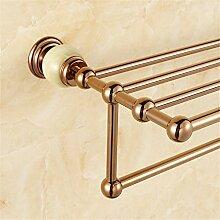 MIWANG Im europäischen Stil Jade alle Kupfer Badetuch, Golden Handtuchhalter, Badezimmer Regal, EIN