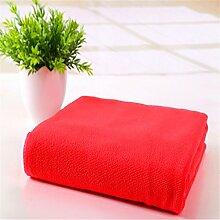 MIWANG Mikrofaser saugfähigen Tuch, Wasser Reinigung Heimtextilien Hotel, helles Rot, 70 * 140 cm