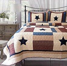 mixinni® Amerikanisch Stil Bettüberwurf waschbar