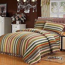 mixinni® Tagesdecke Streifen Patchwork Decke 100%