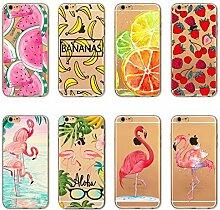 Mixneer iPhone X Fall, Wassermelone Banana