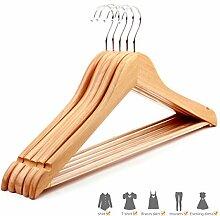 Miyare 20 Stück kleiderbügel holz Anzugbügel aus Holz .