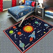 Miyare Kinderteppich Kinderzimmer Spielteppich Kinderzimmer Teppich mit Sterne und Astronau