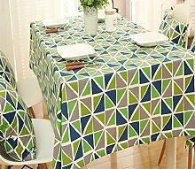 Miyare Tischdecke Abwaschbar Tischtuch Pflegeleicht Schmutzabweisend Kaffeetisch,fuer einen Essentisch Tischdecke tuch Stuhl (grün)