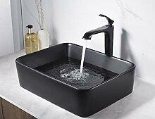 Miyili Vessel Waschbecken rechteckig matt schwarz