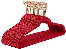 MIZGI Hochwertige Samt-Kleiderbügel (50 Stück),