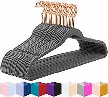 MIZGI Premium Samt-Kleiderbügel (30 Stück)