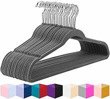 MIZGI Premium Samt-Kleiderbügel (50 Stück)