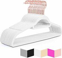 MIZGI Premium Samt-Kleiderbügel – 50 Stück –