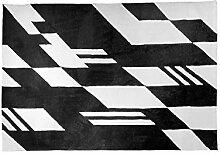 Mjb Moderner Teppich mit Streifen, Schwarz/Weiß /