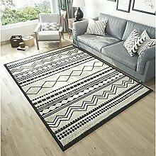 Mjb Rechteckiger Teppich mit geometrischen Linien,
