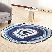 Mjb Teppich für Couchtisch, rund, Rutschfest, 60