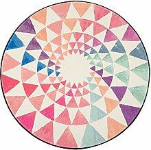mjb Teppich, rund, Aquarellfarben, dreieckig, aus