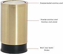 MJK Indoor-Papierkörbe, Edelstahl-Mülleimer mit
