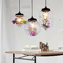 MJK Pendelleuchten, moderne Blume Glas