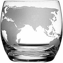Mjkl 2 stücke geätzt globus Glas 250 ml